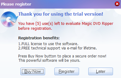 magic dvd ripper-start