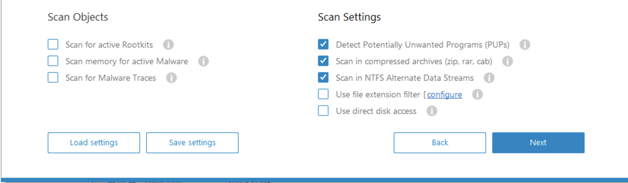 Emsisoft Scan Objects