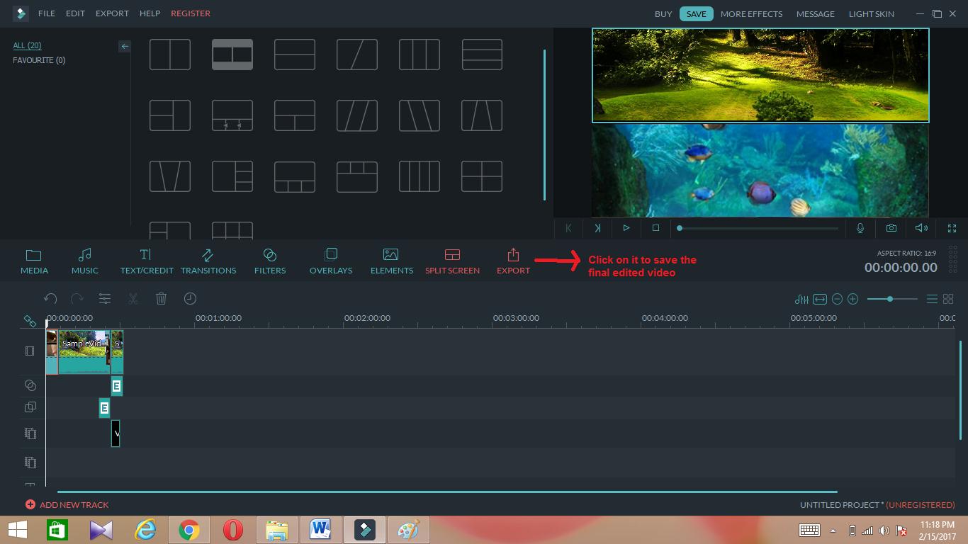 wondershare video editor export