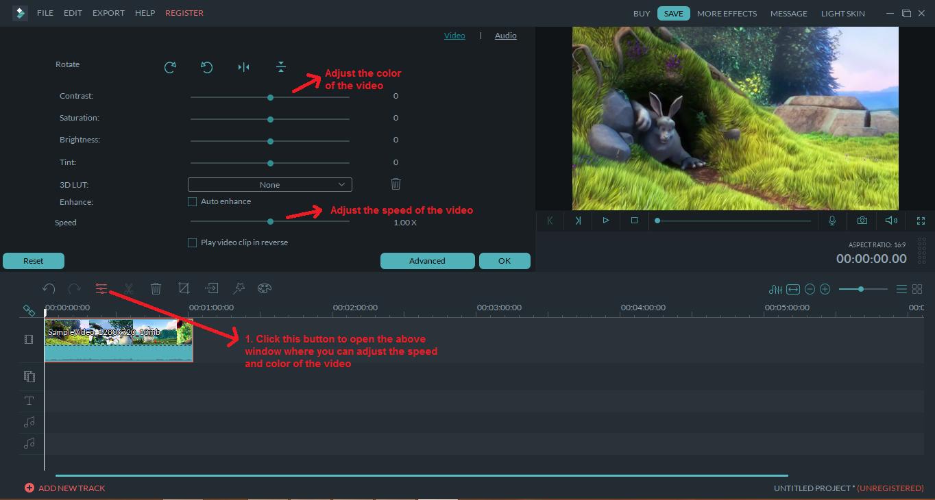 wondershare video editor speededit