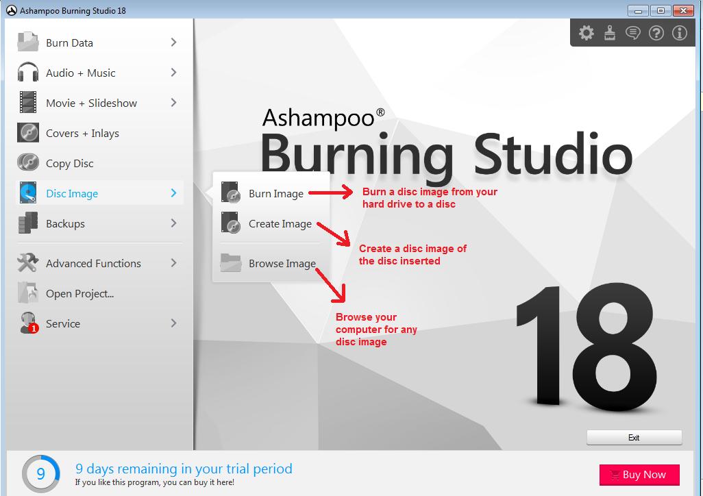 Ashampoo Burning Studio discimage