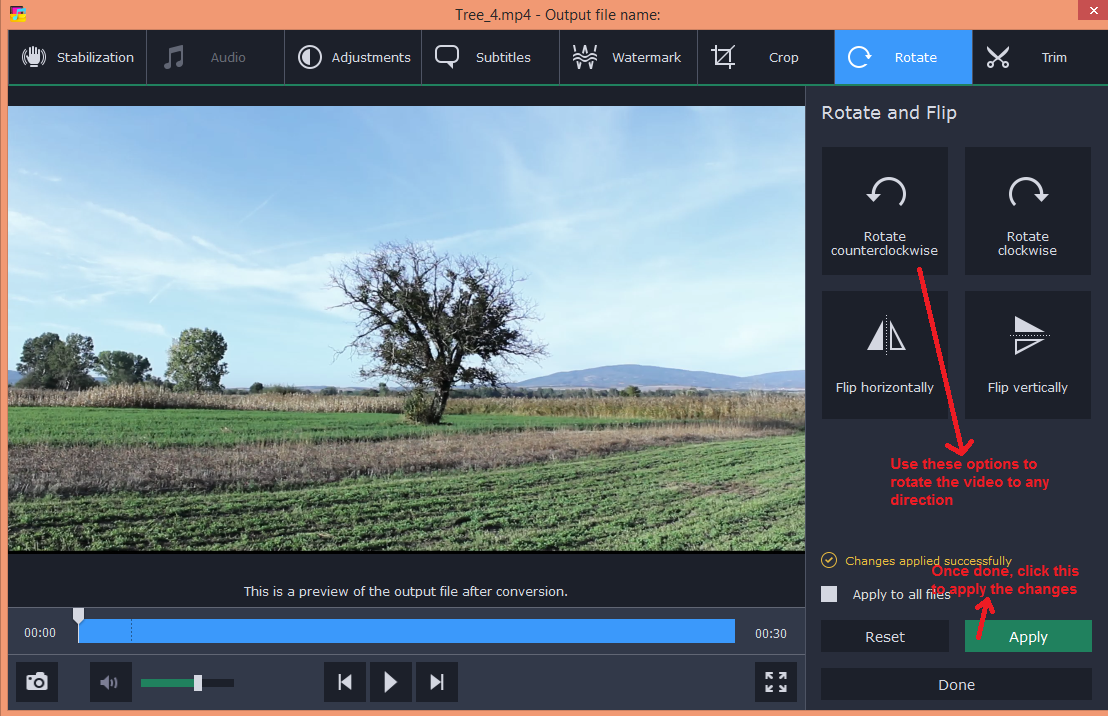 movavi video converter edit rotate