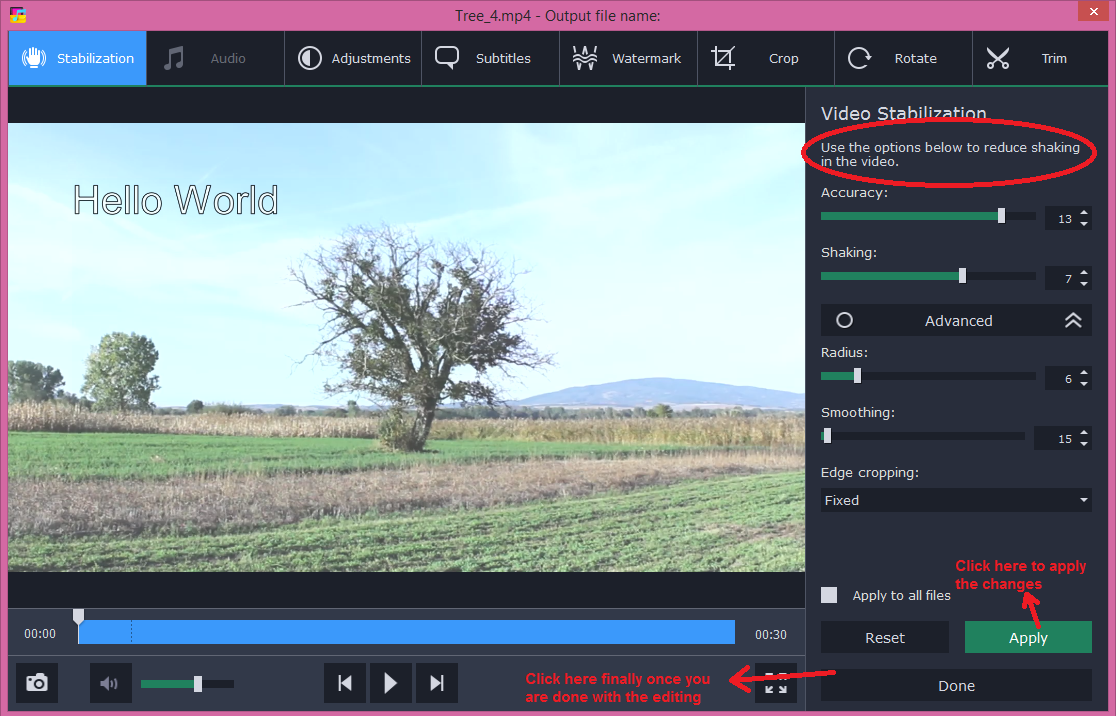 movavi video converter edit stabilization