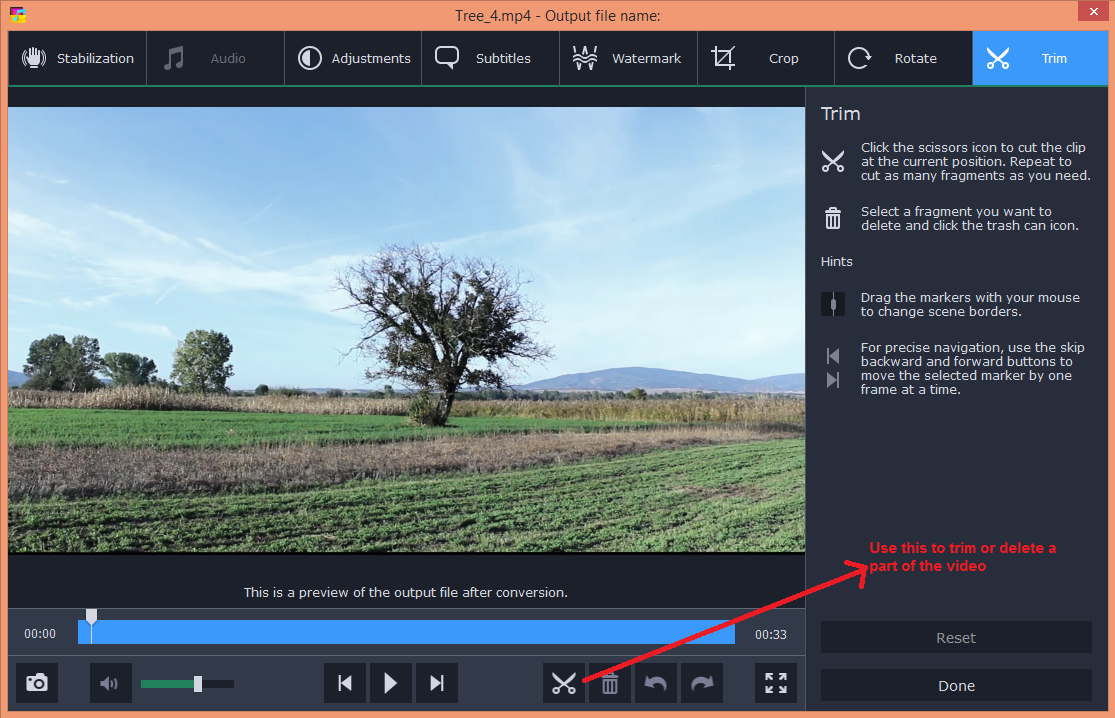 movavi video converter edit trim