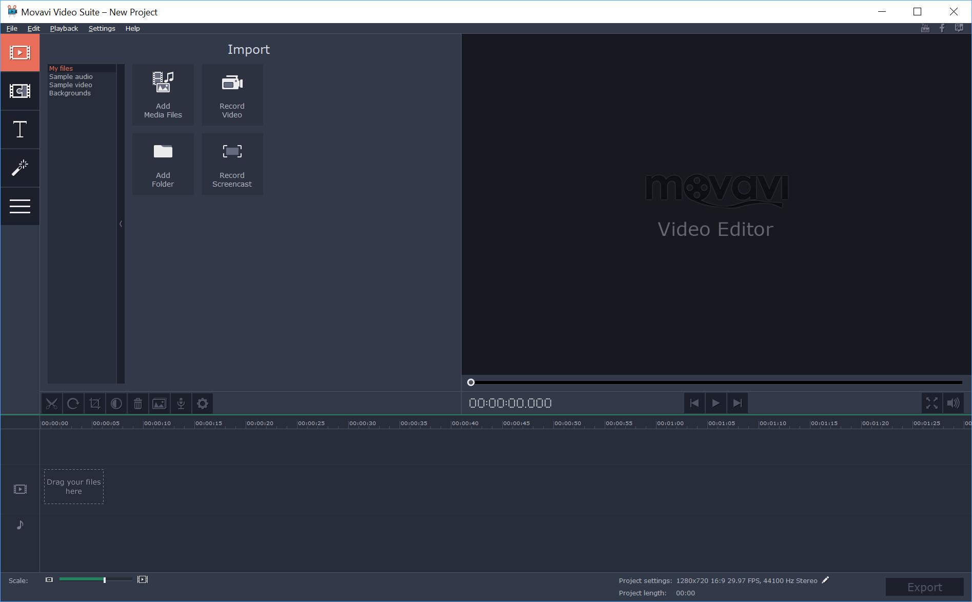 Movavi Video Editor Demo