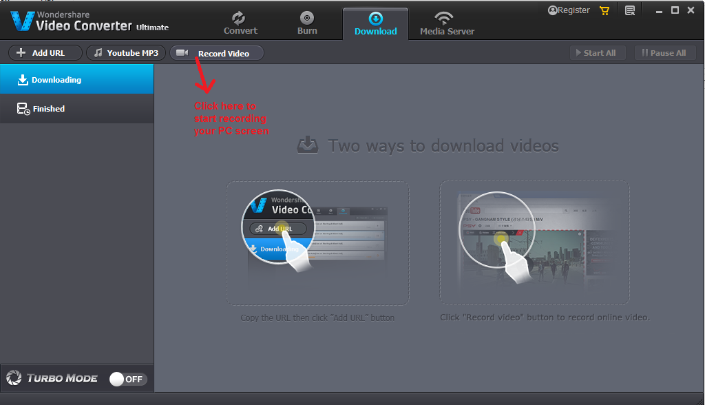 wondershare video converter download recordvideo