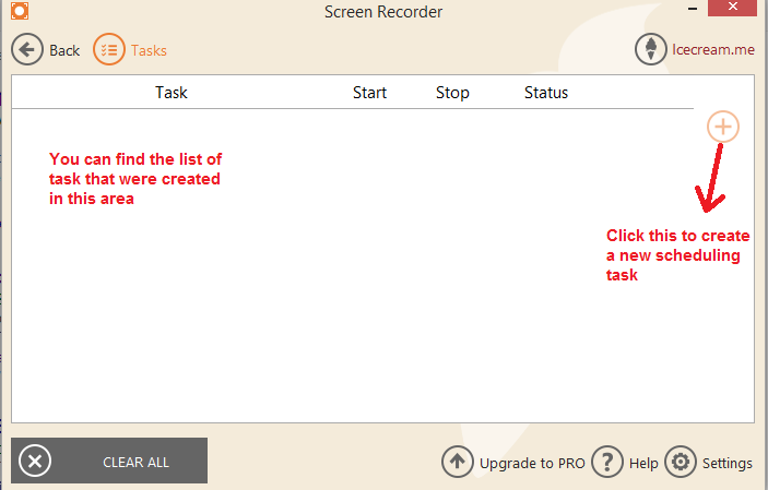 ice cream Screen recorder task