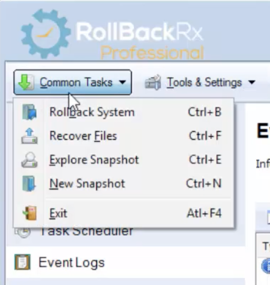 RollbackRX commontask