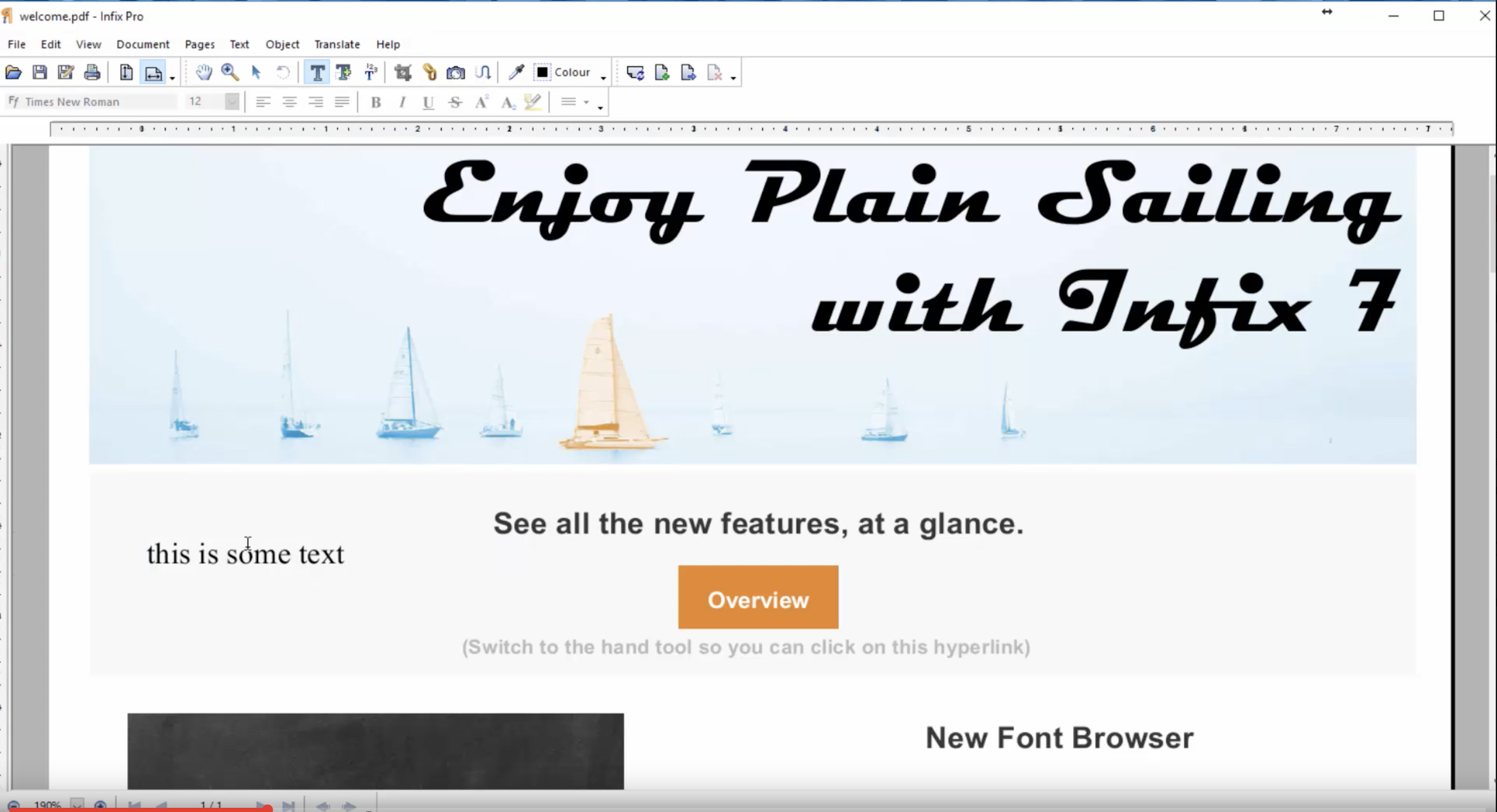Infix PDF Editor overview