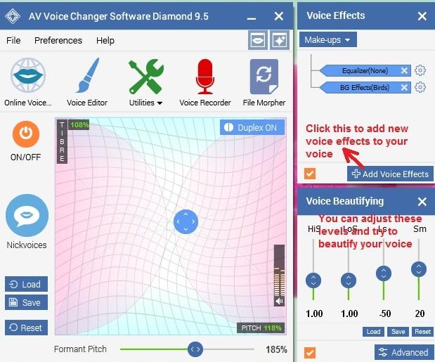 AV Voice changer voiceeffects