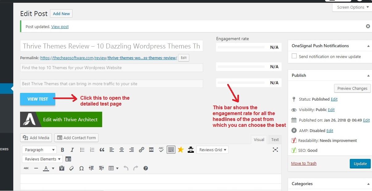 Thrive Headline Optimizer view test_postpage