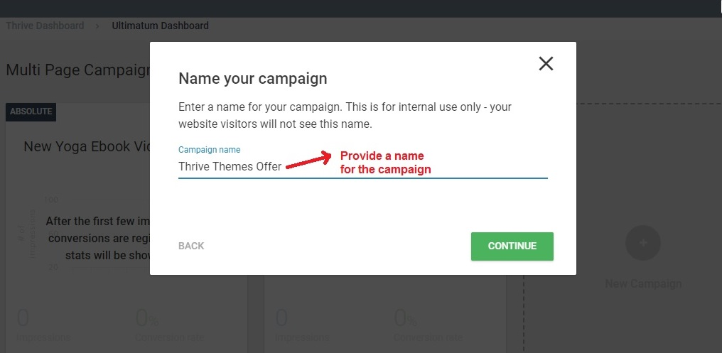 Thrive Ultimatum campaign name