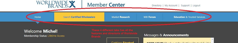 Worldwide Brands tabs
