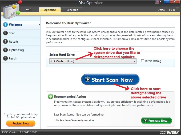 Advanced System Optimizer Disk Optimizer