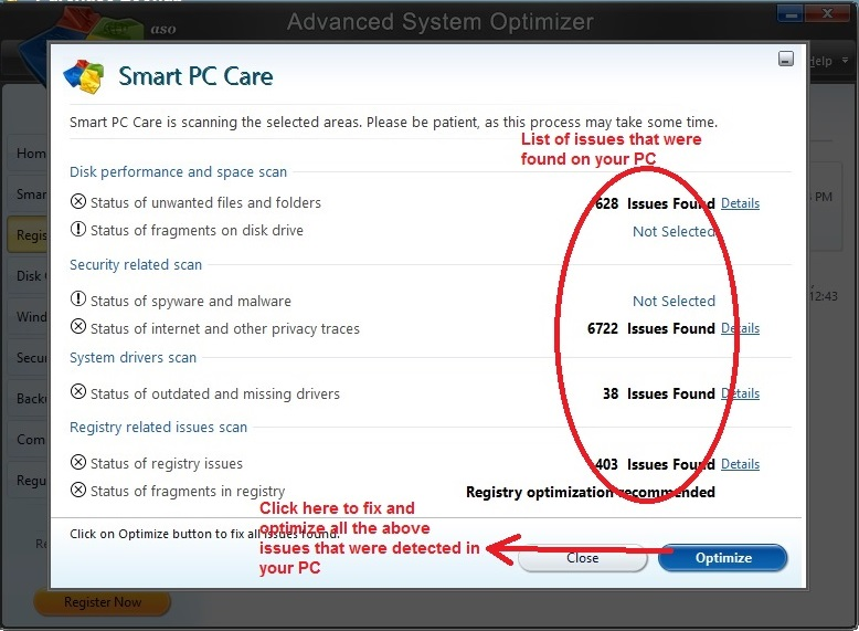 Advanced System Optimizer optimize PC