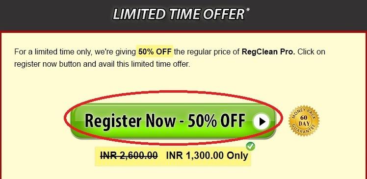 RegClean Pro offer