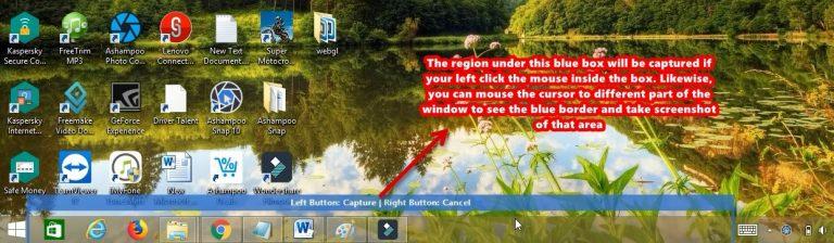 Ashampoo Snap screenshot single window