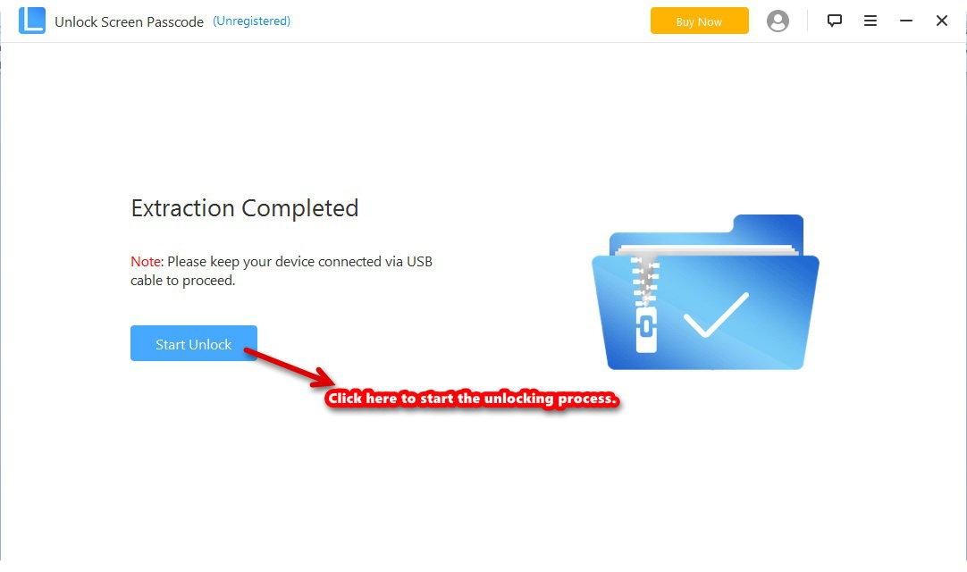 unlock lock screen start unlock