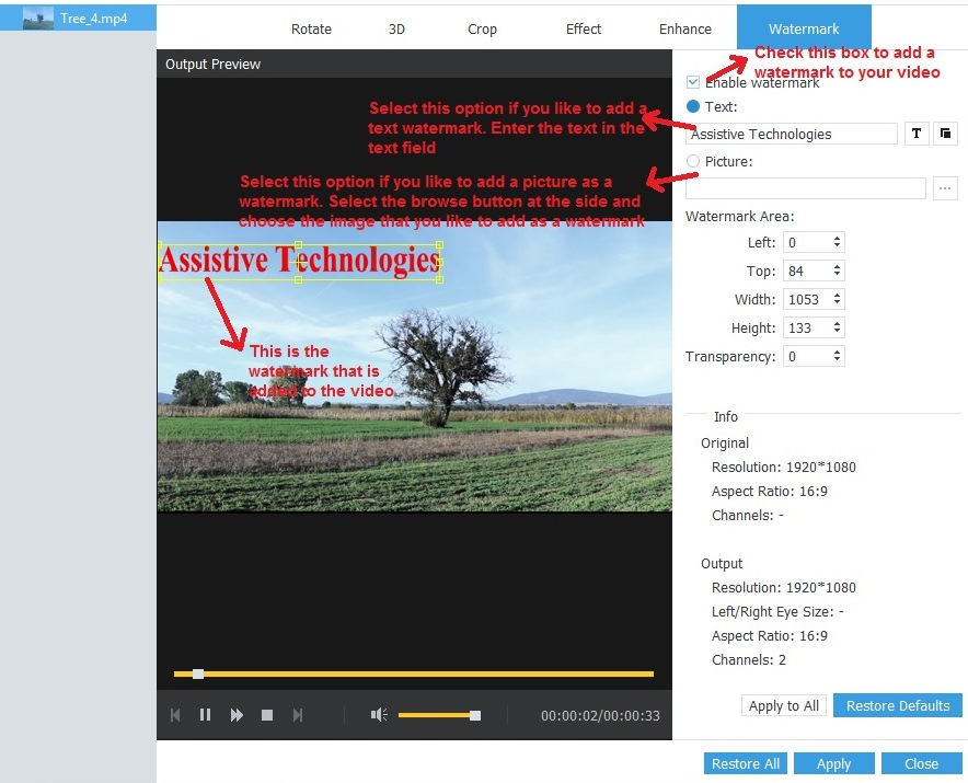 AnyMp4 Video Converter Ultimate watermark
