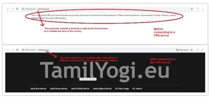 Blocked Website can be accessed