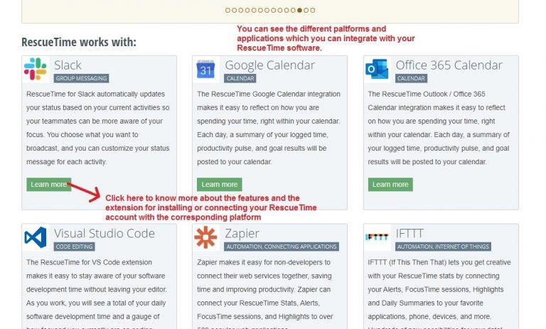 API Integration Page