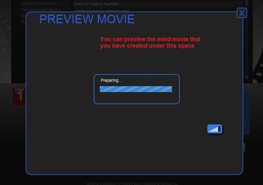 Preview the created movie