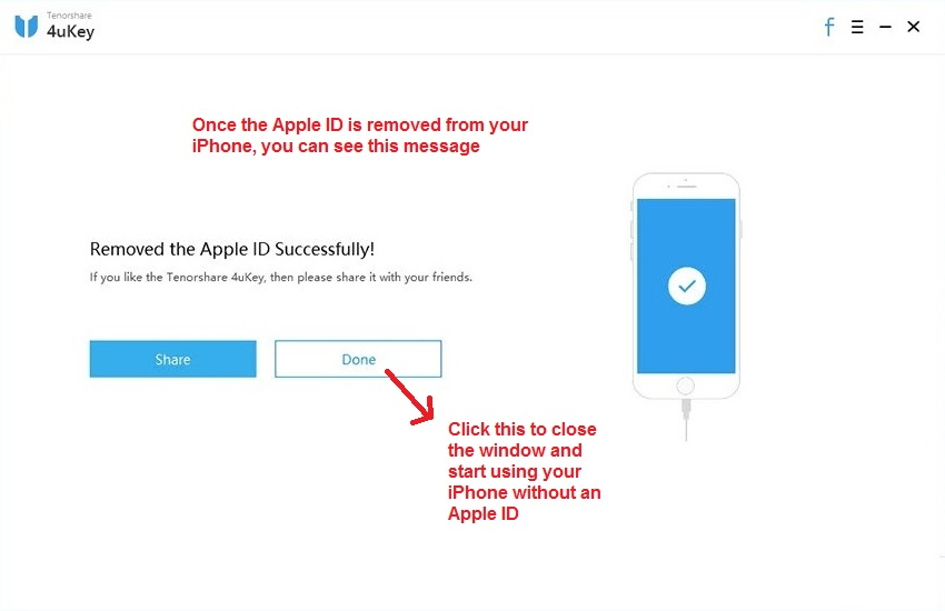 Tenorshare 4uKey Apple ID removed